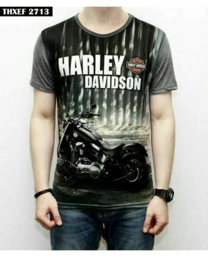 Kaos/Baju/Tshirt Fullprint 3D Thailand Motor Harley Davidson Black