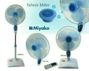 "Kipas Angin Berdiri (Stand Fan) Miyako 3 In 1 TJR-101 With Remote 16"""