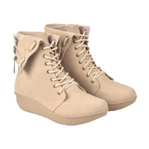 Fashion Boots Wanita CBR Six - Best Seller (Cream)