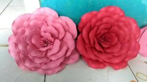 Rose Mawar Karet / Bunga Karet / Bunga Spon / Rose Mawar Spon D 40 cm