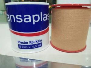 Hansaplast Plester Roll Kain 5 cm x 4.5 m Besar