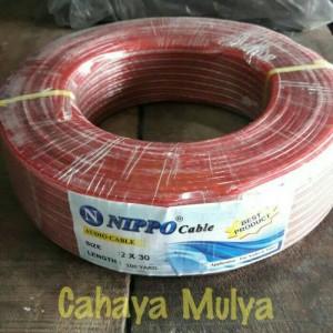 Kabel Audio/ Listrik (Audio Cable) Nippo 2x30 Panjang 100 Yard