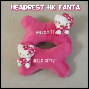 Bantal Headrest Tulang - Hello Kitty
