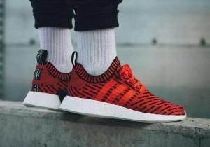 Sepatu Adidas NMD R2 Core Red Premium