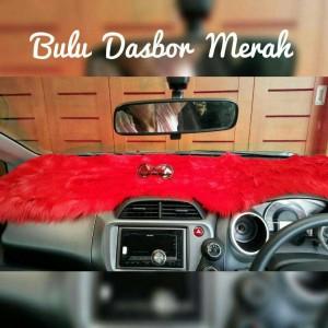 Bulu Dasbor Mobil - Merah