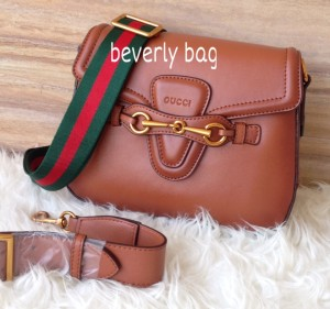 READY jual tas bag Gucci Lady Web LEATHER MIRROR - brown