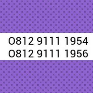 Nomor Cantik Simpati Seri Tahun 1954 & 1956 Hoki, Rapih # Sel 589