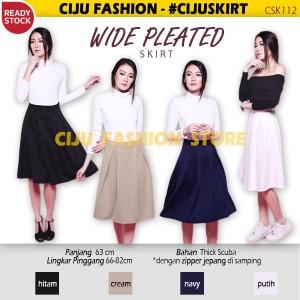 Wide Pleated Skirt Rok Wanita Lipit (CSK112)