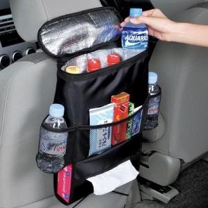 Car Organizer dengan Cooler Bag Storage Mobil Back Seat Tempat Botol