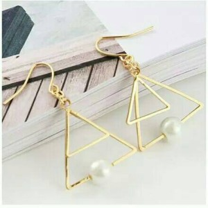 anting double triangle | aksesoris import