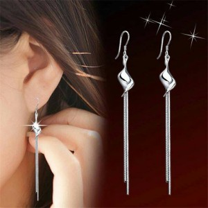 Anting double long chain | aksesoris import murah