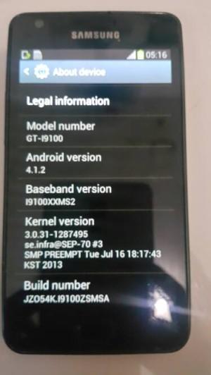 Samsung Galaxy S2 Second