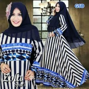 Grosir Dress-baju muslim wanita/syari zola navy