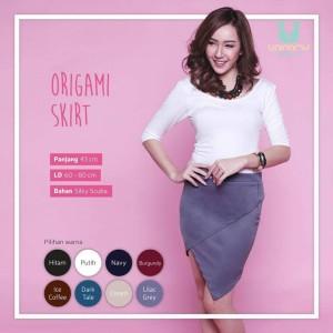 Sale Origami Skirt Lilac Grey Cuci Gudang Big Sale Diskon Besar Murah
