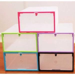Kotak Sepatu Plastik Bongkar Pasang - Multi-Color