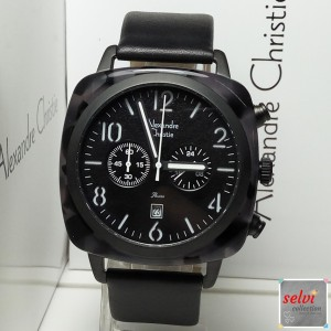 Jam Tangan Pria Alexandre Christie AC6457MC Chronograph Black White