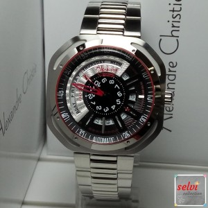 Jam Tangan Pria Alexandre Christie AC3035MA Automatic Silver Red