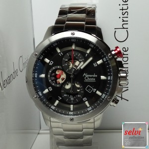 Jam Tangan Pria Alexandre Christie AC6453MC Chronograph Silver Steel