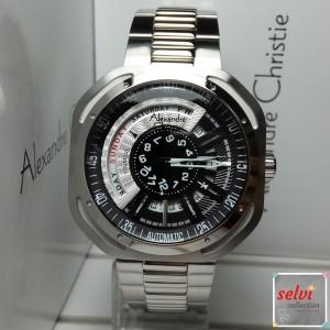 Jam Tangan Pria Alexandre Christie AC3035MA Automatic Silver Black
