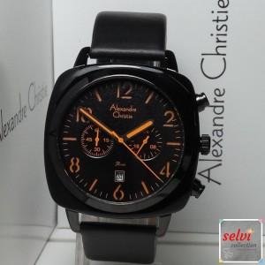 Jam Tangan Pria Alexandre Christie AC6457MC Chronograph Black Orange