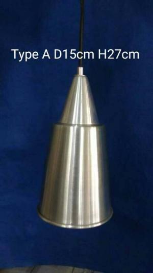 Lampu Minimalis Gantung Hias Bentuk Corong D15cm H27cm Type A