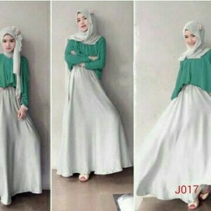 NOSH Gamis fashion long sleeve double layer plus jilbab