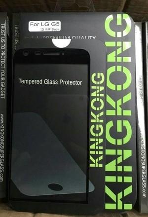 Kingkong Tempered Glass LG G5 Full Curve 3D Black 9H Premium Quality