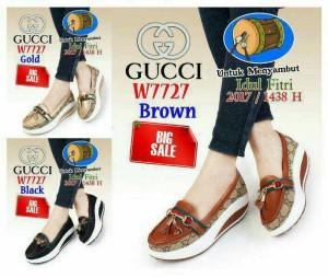 Sepatu Wedges Slip on Gucco 7727
