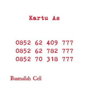 Kartu Perdana As Seri Triple 777,0852 62 409 777 Rapi Hoki #DV6