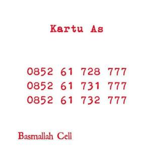 Kartu Perdana Nomor Cantik As Seri Triple 777,0852 61 728 777 Rapi#DV6