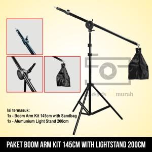 Boom Arm Kit 145cm with Sandbag with Lighstand 200cm