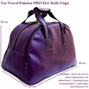 Tas Mudik Travel Besar Kulit PRD ELL ungu