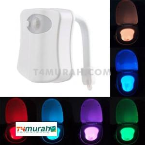 Lampu Toilet 8 Warna Lampu LED Motion Sensor Gerak Otomatis