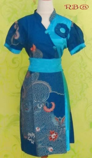 Dress Batik VIDIA BIRU