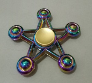 Fidget Spinner Rainbow Star / Spiner 5 Sisi Pelangi Model Bintang