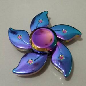 Fidget Spinner Rainbow Flower / Spiner Pelangi 5 Sisi Model Bunga
