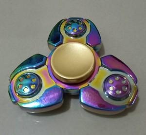Fidget Spinner Tri Blade Rainbow / Spiner 3 Sisi Pelangi Model Robot
