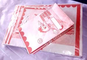 Kertas Kantong bungkus fried chicken, tahu,jamur dll