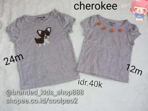 kaos anak cewe girl branded kids top cherokee kids baju bayi branded