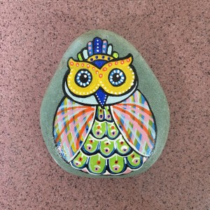 Batu Lukis Burung Hantu / Owl (1)
