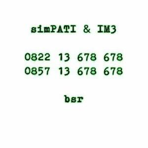nomor pasangan / nomor couple simpati indosat IM3 seri double abc q6