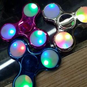 Fidget Spinner METALIK Chrome LED ON OFF