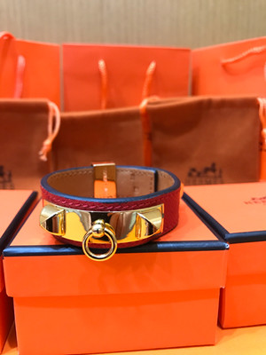 Hermes Red Mini CDC Epsom Leather Bracelet
