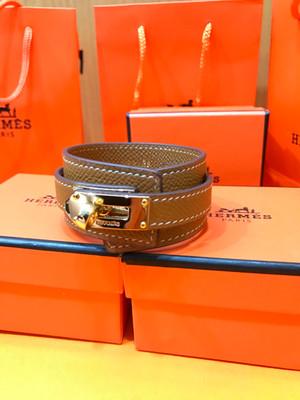Hermes Brown Kelly Epsom Bracelet