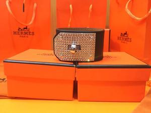 Hermes Black Diamond Swift Import Leather Bracelet