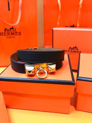 Hermes Black Mini CDC Swift Leather Bracelet