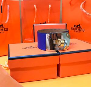 Hermes Blue Kelly Dog Epsom Bracelet