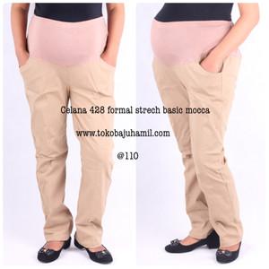 hmill celana formal strech 428 mocca