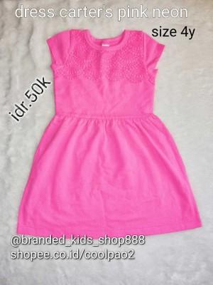dress anak branded carter kids original
