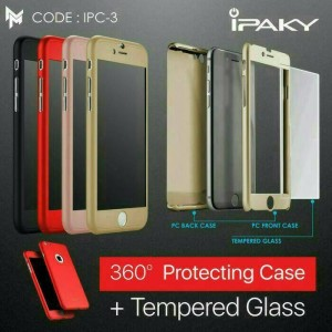 Case Ipaky 360 Samsung A5 2017 Hard Full Body Casing Cover Original